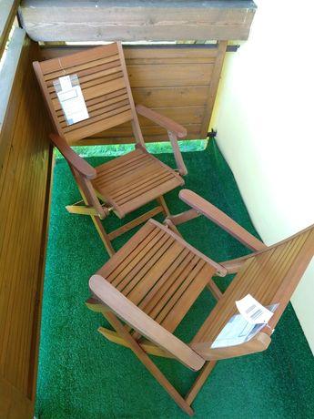 Krzesło krzesła meble  składane ogrodowe z drewna VANTORE FSC