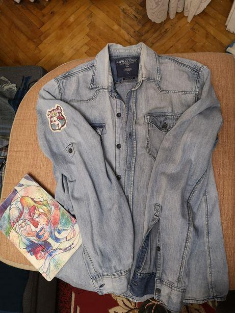 Рубашка джинсовая винтаж, L