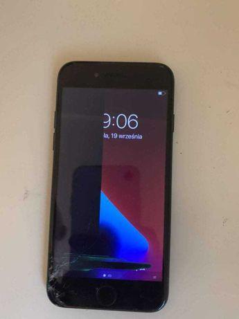 Iphone 7 czarny, uszkodzony