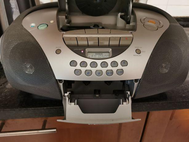 Sony CD Rádio e Cassete gravador