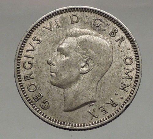 1941 Wielka Brytania Wielka Brytania GEORGE VI Silver Shilling