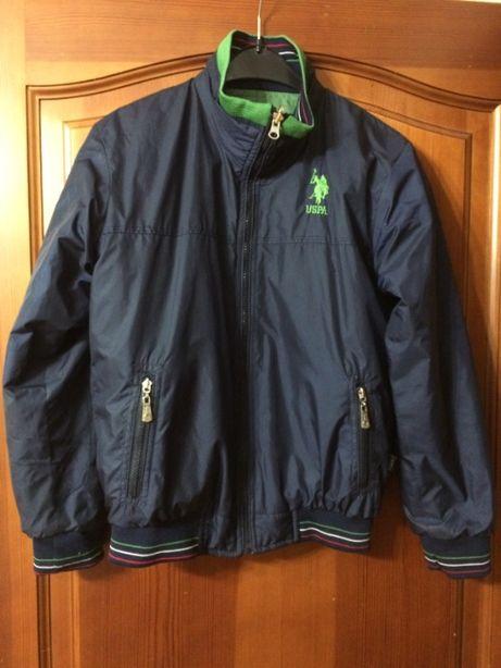 Продам двустороннюю куртку USPA (весна - осень) на мальчика 8-10 лет