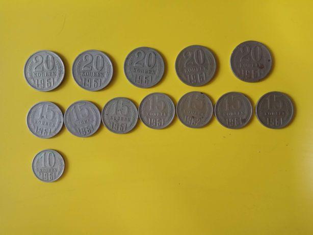 Монеты СССР 1961 1962 1964 1968 1969 1987 1990 50 лет советской власти