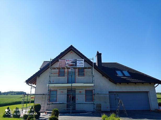 Malowanie elewacji natryskowo dachów,altanek
