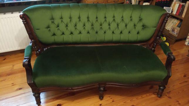 Secesyjna kanapa po renowacji