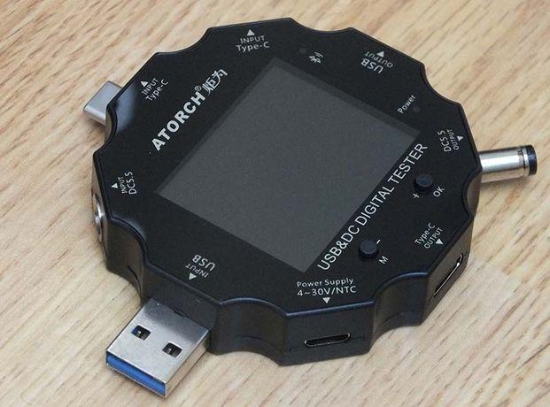 Тестер ATORCH UD18 USB 3.1 BT логгер ЮСБ вольтметр амперметр bluetooth