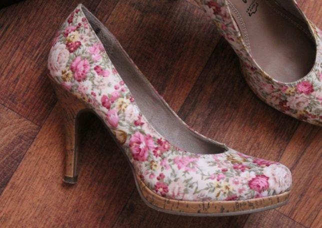 Туфли tamaris оригинал цветочные
