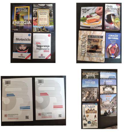 Livros culinária / saúde / condução /guias viagens / decoração