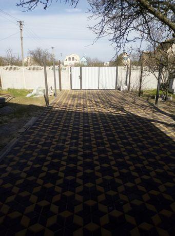 Укладка тротуарной плитки, монтаж поребрика, бетонные работы