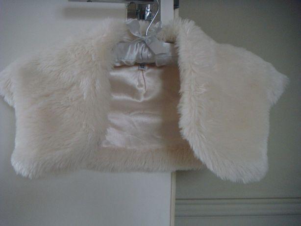 futerkowe bolerko H&M do sukienki dla dziewczynki 2-3 lata jak nowe