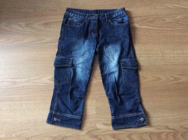 Брюки джинсы Капри бриджи кюлоты длина 75 см + подарок