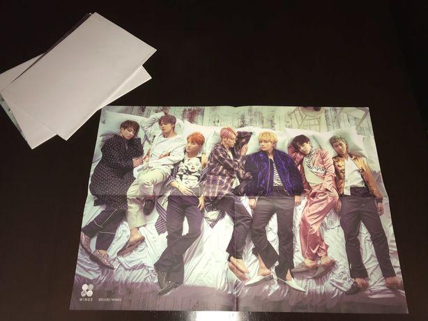 BTS Kpop Poster pré-venda Álbum WINGS + Freebies