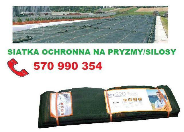 Siatki ochronne 220 g/m2 zabezpieczająca silos/pryzmę-siatka 8×10 m