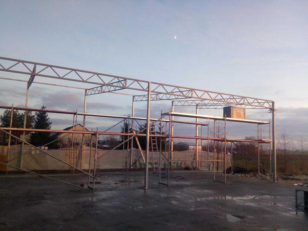 Wiata garazowa  kostrukcje stalowe ocynkowanej wiata gospodarcza