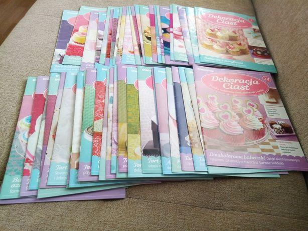 Zestaw gazet Dekoracja Ciast+niekompletny zestaw przyrządów cukiernich