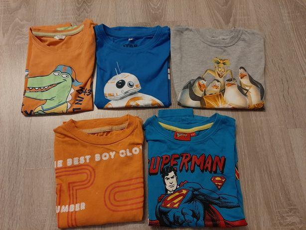 Koszulki/ bluzki krótki rękaw dla chłopca rozm 122