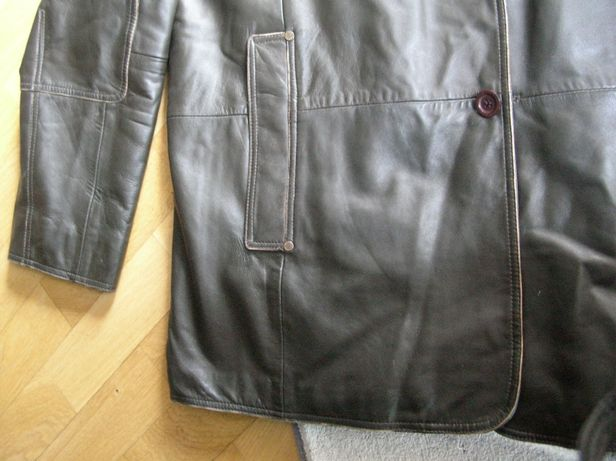 Eksluzywna marynarka skórzana CAMEL XL/XXL vintage skóra kurtka ochnik