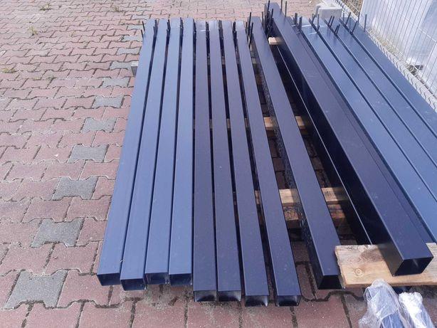 Słupek ogrodzeniowy ocynkowany i malowany proszkowo 80x80x3 do bram
