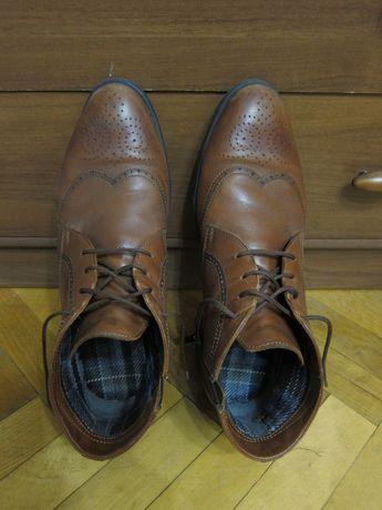 Ботинки мужские кожаные коричневые ІКОС