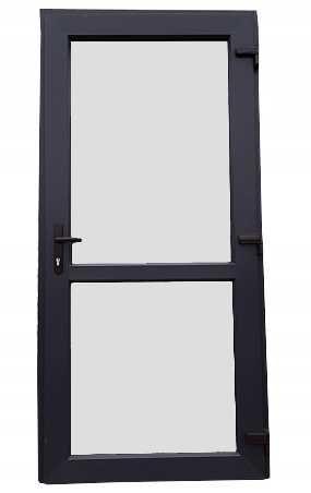 Drzwi Sklepowe Biurowe zewnętrzne 75 mm PCV wys. 200 x 100. TANIO .