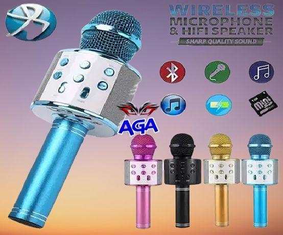 Mikrofon Karaoke BLUETOOTH Głośnik USB SD MP3 Różne Kolory