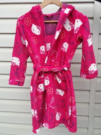 Флисовый махровый халат для девочки