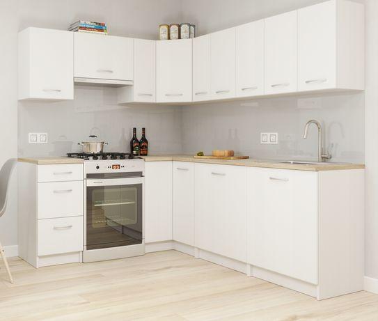 Zestaw mebli kuchennych Palermo Białe + Blat