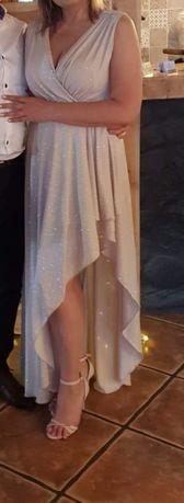 Sukienka maxi błyszcząca brokatowa
