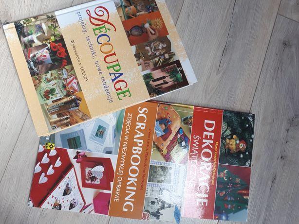 Decoupage książka wyd Arkady scrapbooking dekoracje