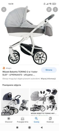 Wózek bebetto Torino 3w1