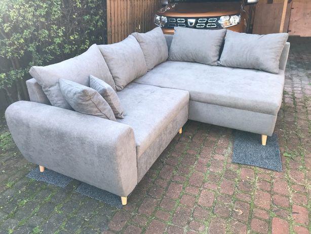 Sofa narożna z dostawką