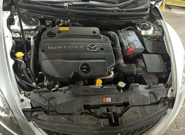 Мотор (двигатель) Mazda 6 GH 2.2 дизель MZR-CD 2.2 (R2AA). Разборка