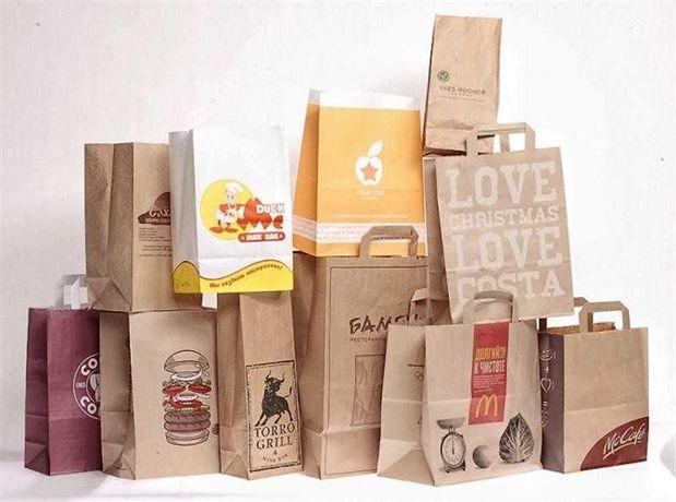 Эко Крафт Пакеты - Крафтовые Бумажные, с Логотипом, Саше 180х50х280