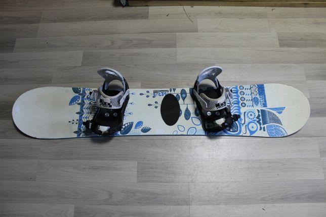 Deska Snowboard SALOMON LOTUS 143 cm + Wiązania Nidecker