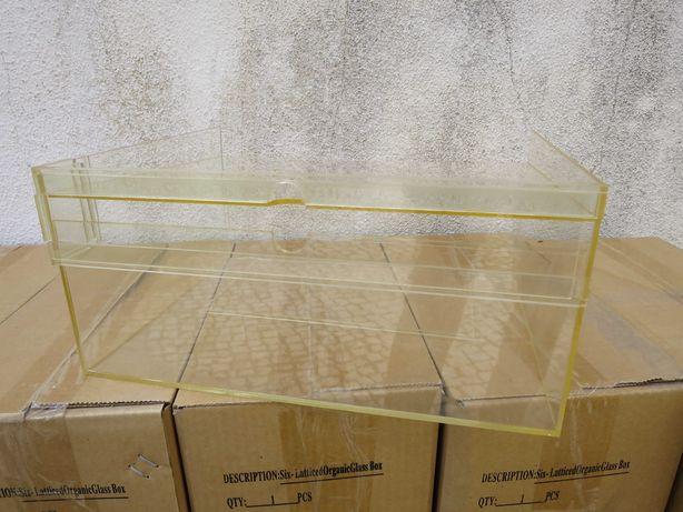 Caixas acrílico expositor mini vitrine colecções exposição loja