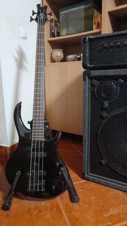 Baixo epiphone toby by tobyas (epiphone) +amp. Marshall 3540