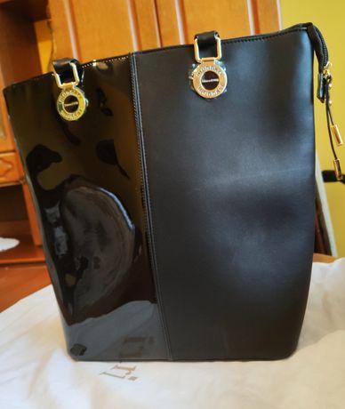 MONNARI torebka czarna A4 nowa