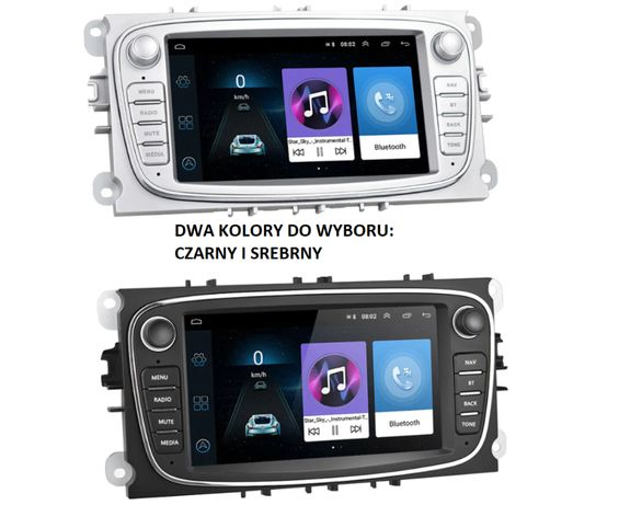 Radio 2 DIN Android Nawigacja Ford Focus Mondeo Galaxy S-Max C-Max