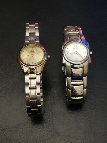 Sprzedam 2 damskie markowe zegarki Lorus i Q&Q na bransoletach