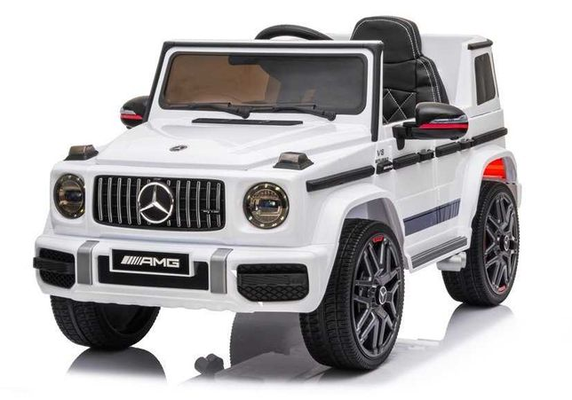 Auto na Akumulator Mercedes G63 AMG Biały DARMOWA DOSTAWA