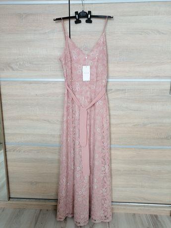 Nowa maxi sukienka koronkowa roz M.
