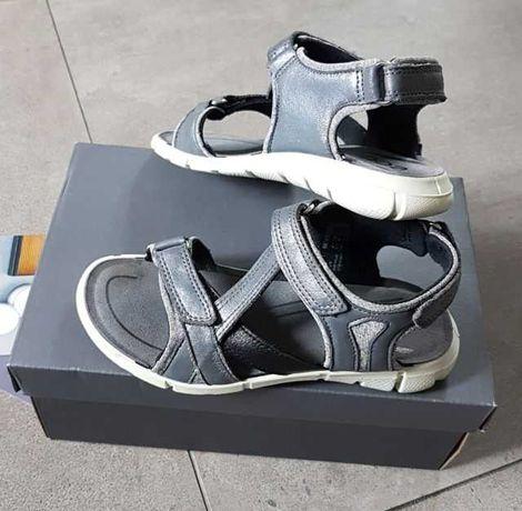 Ecco INTRINSIC sandały skórzane szare rozm. 31