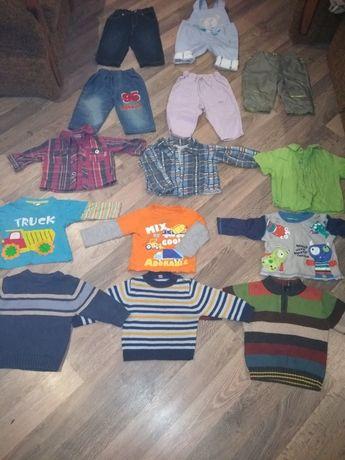 Вещи на мальчика 6-9 месяцев одним лотом