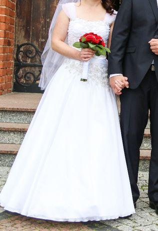 Suknia ślubna regulowany gorset r. 40
