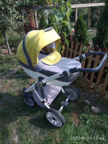 Sprzedam wózek Anex Sport 3w1 ,4w1 z bazą ISOFIX kanarkowy , żółty kol