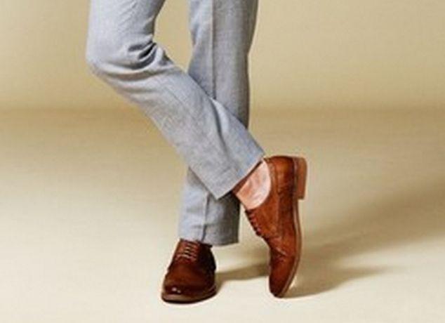 коричневые мужские кожаные туфли