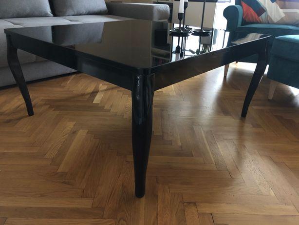 Ława/stolik/stół, wysoki połysk, lite drewno, głęboka czerń