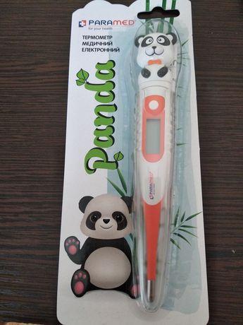 Термометр электронный медицинский детский панда с чехлом. Новый
