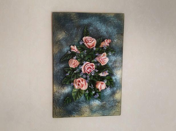 "Объёмная 3D картина: ""Букет роз"""
