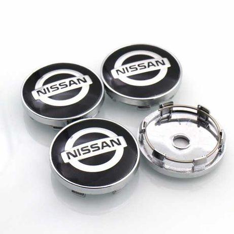 Centros/tampas de jante completos Nissan com 54, 60, 65 e 68 mm